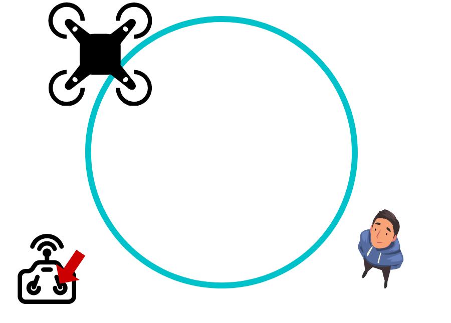 Hacer un circulo con el dron